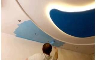Какой краской красить потолок из гипсокартона